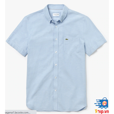 Áo sơ mi tay ngắn Lacoste Regular Fit Oxford Cotton