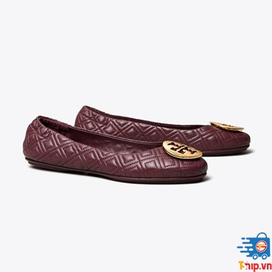 Giày bệt Tory Burch MINNIE TRAVEL BALLET FLAT, QUILTED LEATHER