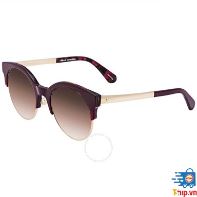 Kính nữ Kate Spade Brown Gradient Round Sunglasses Kaileens 0YDC 52